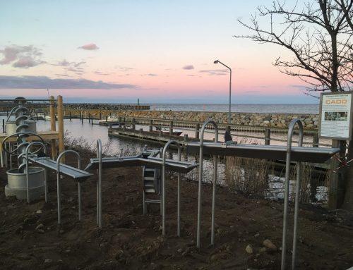 Indvielse af vandeksperimentarie på Odden Havn